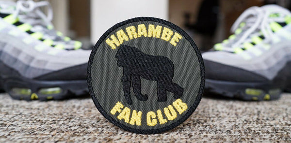 Harambe Fan Club, Meme, Silverback Gorilla Embroidered Patch