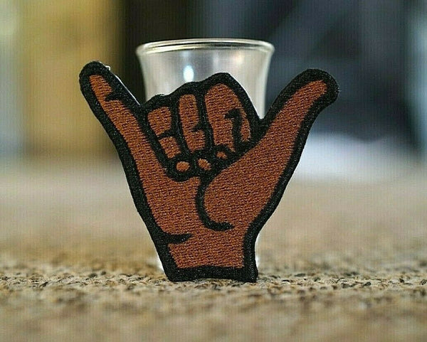 Shaka, Hang Loose, Islander Hand Embroidered Patch