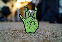 "West Coast ""W"" Hand Sign Embroidered Patch"