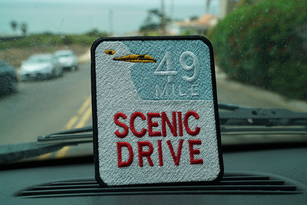49 Mile Scenic Drive Sign, San Francisco, California Embroidered Patch
