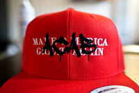 ACAB All Cops Are Bastards Graffiti Tagged Over MAGA Make America Great Again Trump Embroidered Hat