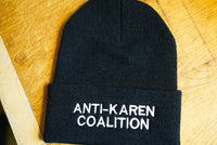 Anti Karen Coalition, Meme, Speak To Your Manager, Middle Aged, Bob Haircut Embroidered Beanie Hat