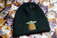 Baby Yoda Mandalorian Meme Star Wars Inspired, Gift Idea Embroidered Beanie