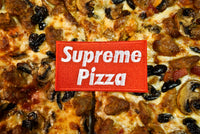 Supreme Pizza, Box Logo Embroidered Patch