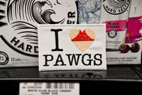 I Love PAWGS, Heart Booty, Thick Butt, Embroidered Patch