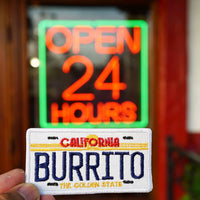 California Burrito License Plate, Mexican Food Embroidered Patch