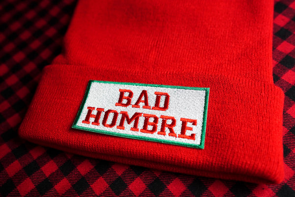 Bad Hombre, Bad Santa Embroidered Beanie Hat