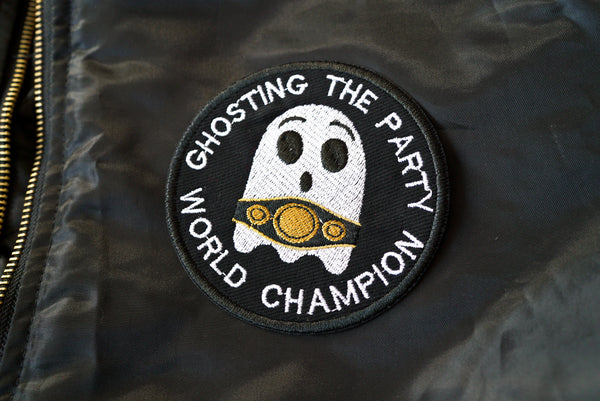 Ghosting The Party World Champion Embroidered Patch