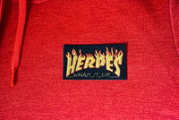"Thrasher x Herpes, ""Wrap It Up"", Parody, Embroidered Patch"