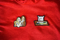 Lady Yelling at Cat Meme, Smudge The Cat, Taylor Armstrong and Kyle Richards, Embroidered Patches