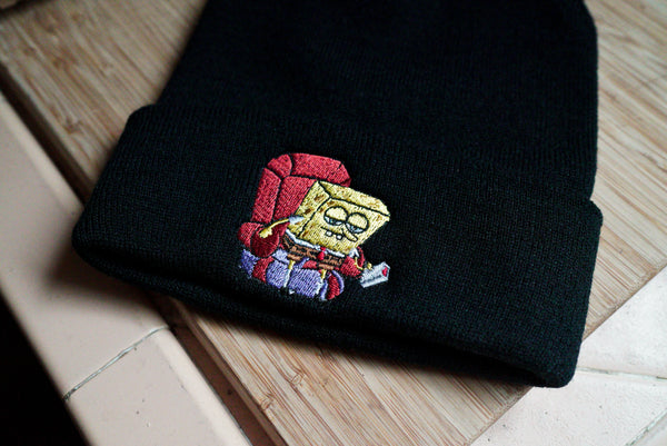 SpongeBob Ight Imma Head Out Meme Embroidered Beanie