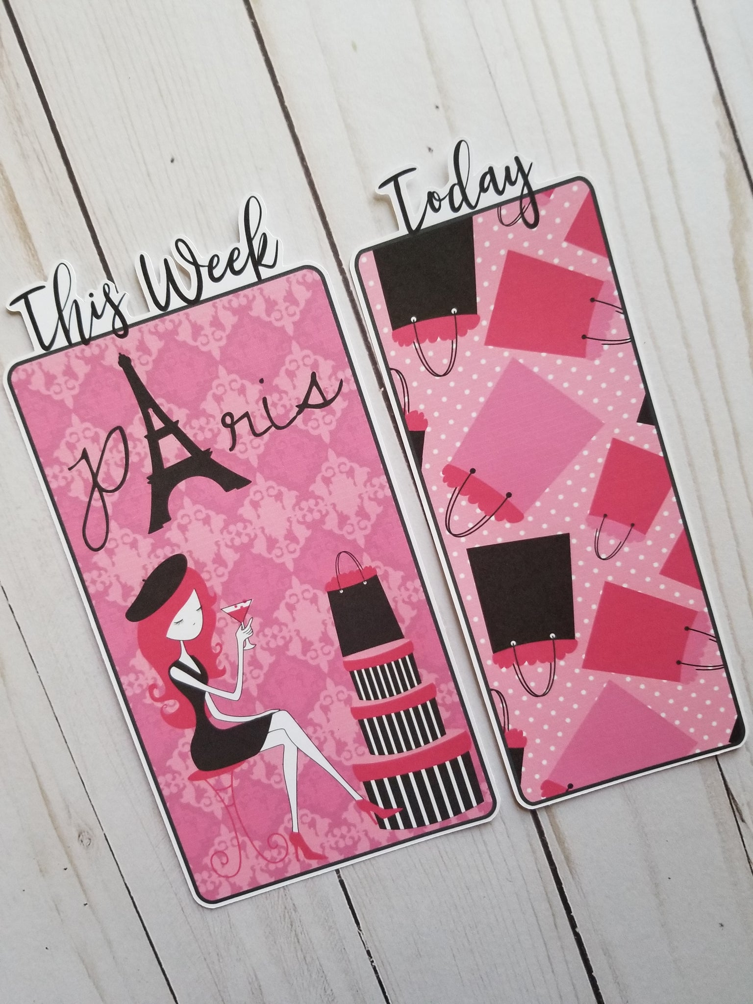 Paris Travelers Notebook or Planner Bookmark