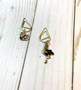 Graceful Birds Planner Clips / Planner Charm / TN Clip / TN Charm / Dangle Planner Clip / Dangle Planner Charm / Planner Accessory