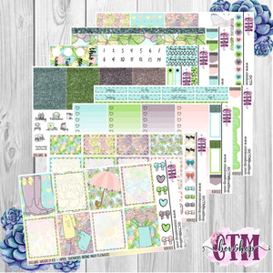 April Showers A La Carte or Deluxe Weekly Sticker Kit   Planner Sticker Kit   Weekly Sticker Kit   EC Stickers   Planner Stickers