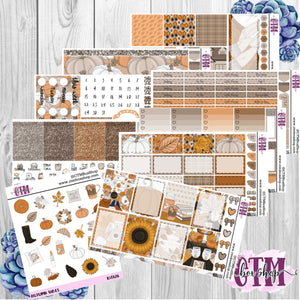 Autumn Vibes A La Carte or Deluxe Weekly Sticker Kit   Planner Sticker Kit   Weekly Sticker Kit   EC Stickers   Planner Stickers