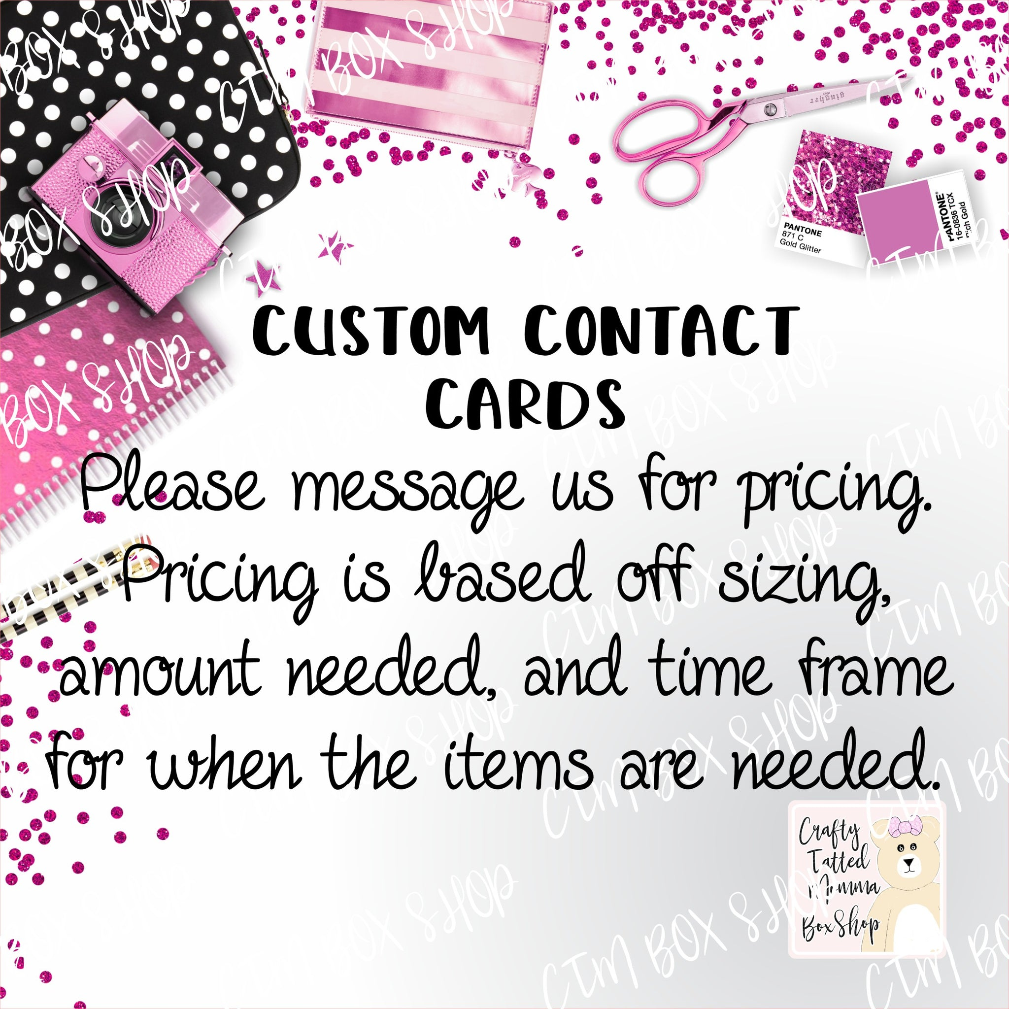 Custom Contact Cards ****Do Not Purchase This Listing****