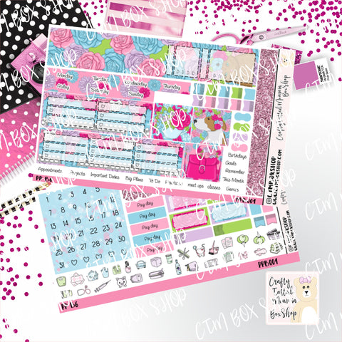 Flowers PP B6 Monthly Sticker Kit   Choose your month   Monthly Sticker kit   PP B6 Planner Stickers    Sticker Kit