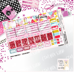 Galentines Hobonichi Monthly Sticker Kit