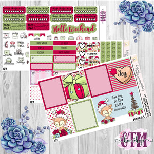 Joy Mini Weekly Planner Sticker Kit   Mini Weekly sticker Kit   Traveler's Notebook Stickers   Planner Stickers   Weekly Kit