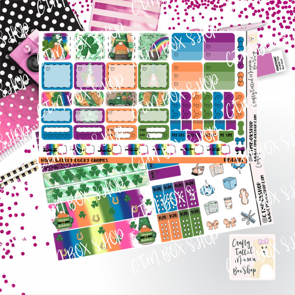 Lucky Gnomes  Deluxe Hobonichi Weeks Sticker Kit   Weekly Sticker Kit   Hobonichi Weeks   Planner Stickers   Mini Stickers   Functional Sticker