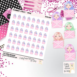 Mail Dolls Stickers   Character Stickers   Planner Stickers   Functional Stickers   Deco Stickers