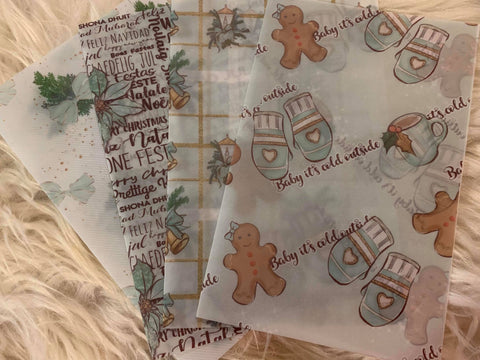 Mint Christmas Vellum Dashboard