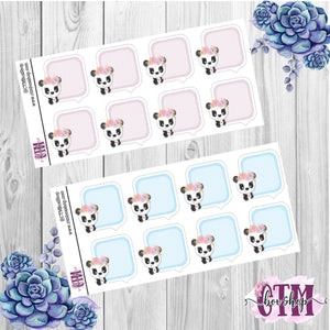Panda Boxes Stickers   Planner Stickers   Functional Stickers Deco Stickers