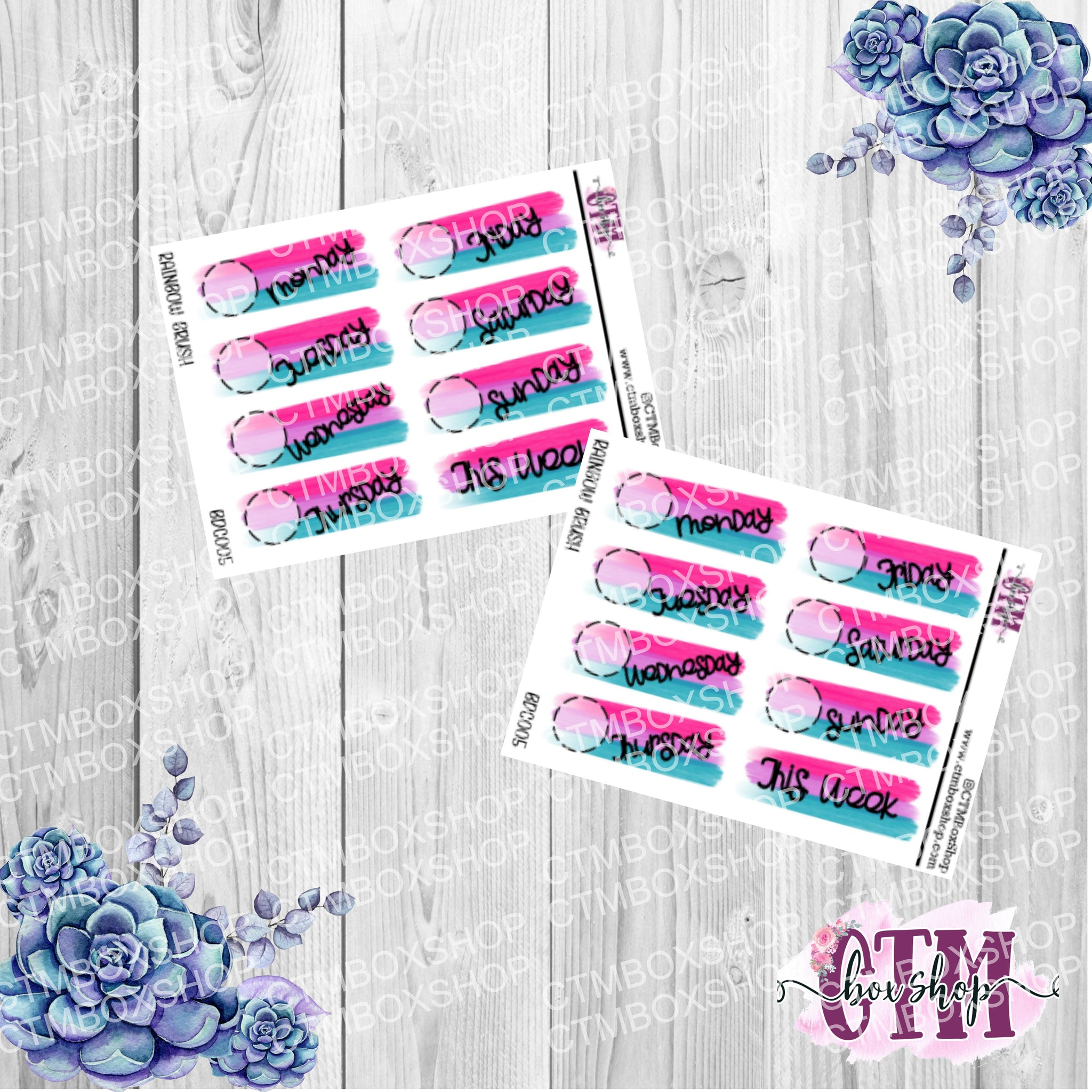 Pink, Purple, and Teal Hand Doodles Brush Date Covers