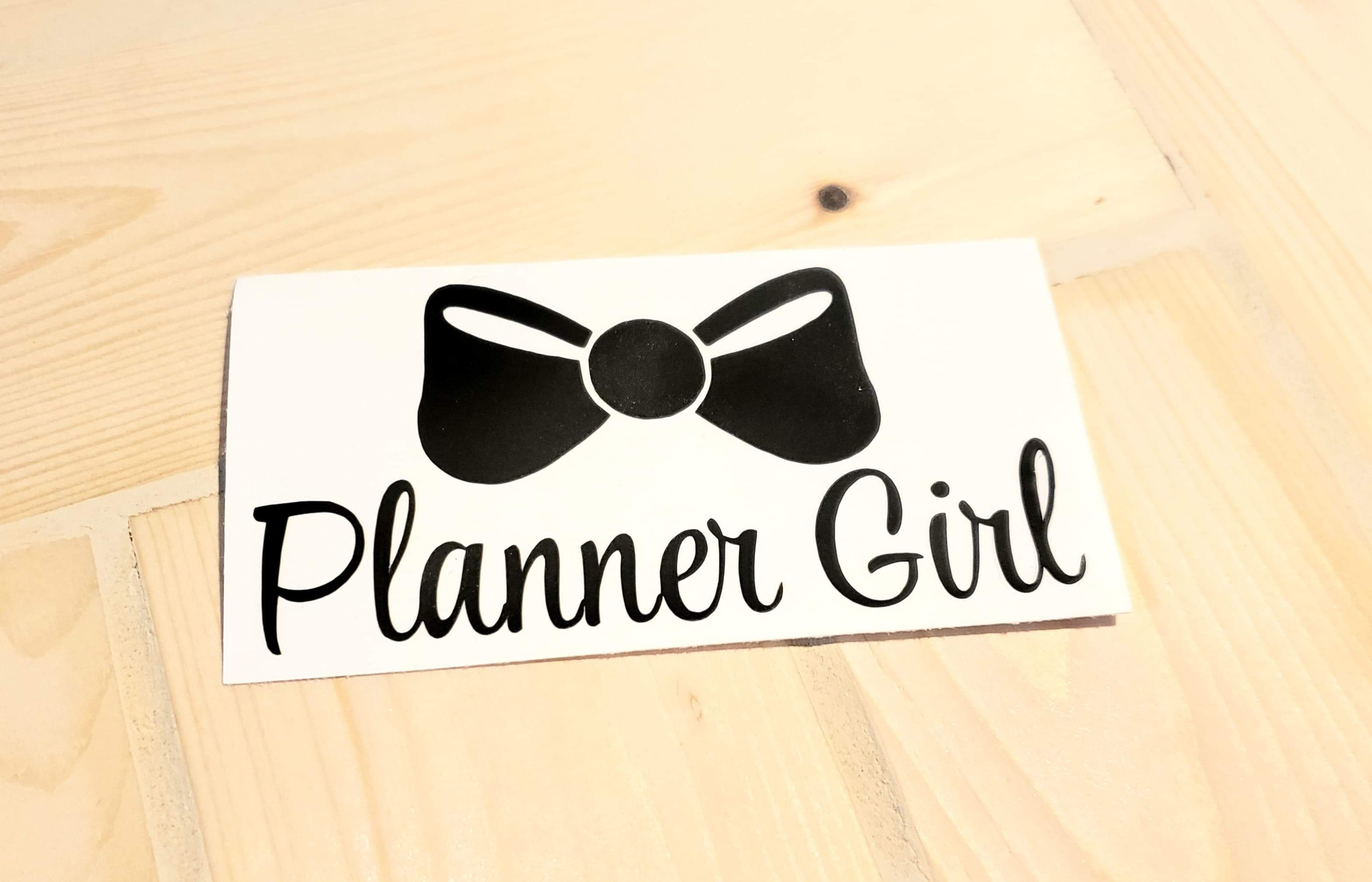 Planner Girl Vinyl Decal