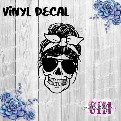 Skull Bun Vinyl Decal