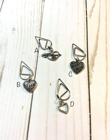 Antigue Heart Planner Clip / Planner Charm / TN Clip / TN Charm / Dangle Planner Clip / Dangle Planner Charm / Planner Accessory