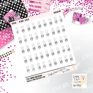 Rose Bad Day  Rose Stickers   Character Stickers   Planner Stickers   Functional Stickers   Emotions Stickers   Deco Stickers