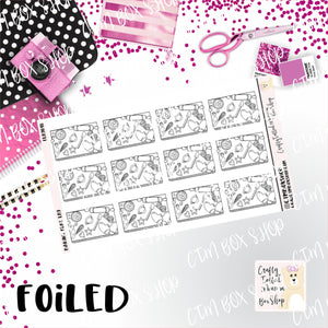 Foiled Baking Flat Lay Planner Stickers  / Baking Stickers / Foiled Stickers / Planner Stickers / Flat Lay Stickers