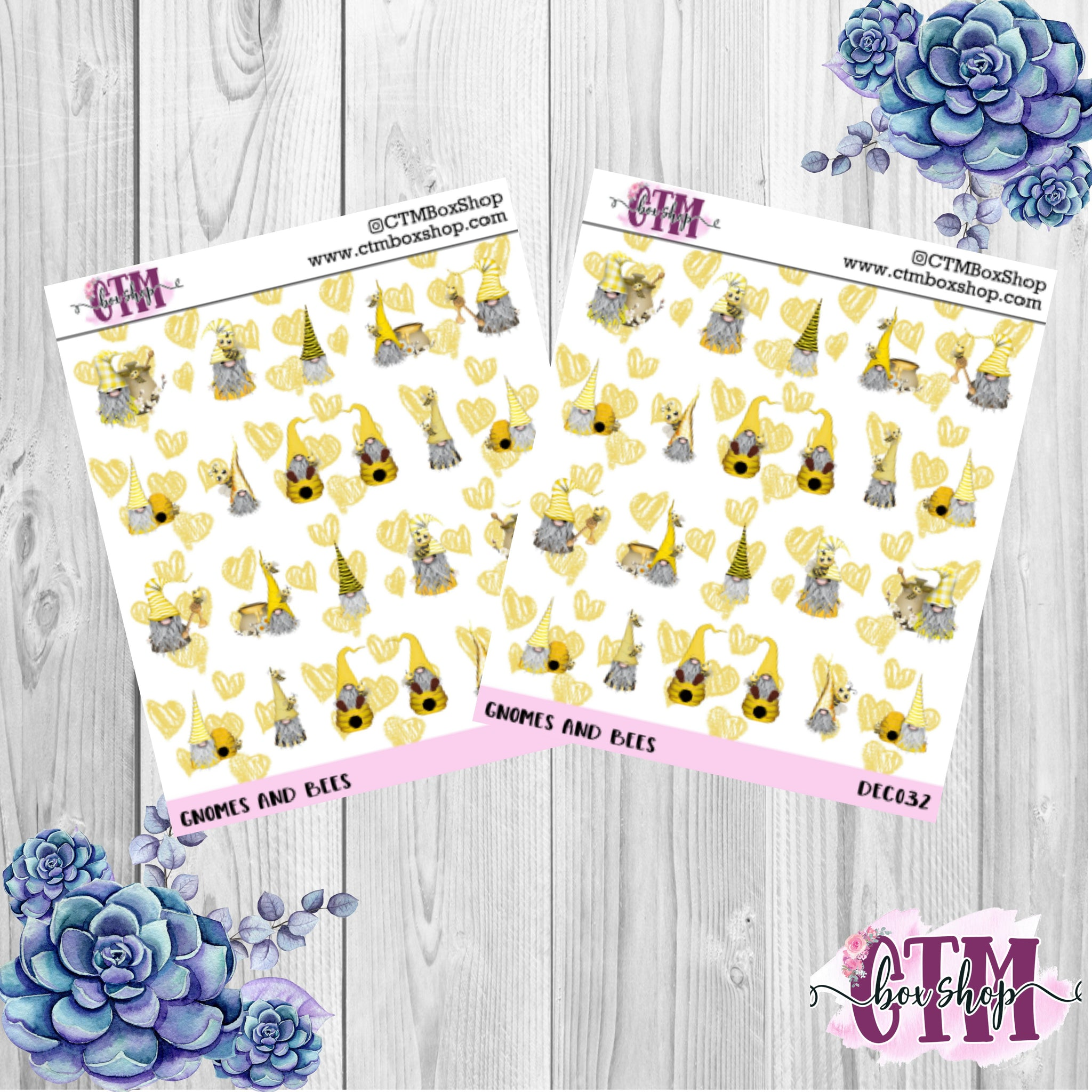 Gnomes and Bees Stickers   Character Stickers   Planner Stickers   Deco Stickers