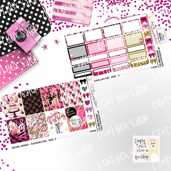 Birthday Girl A La Carte or Deluxe Weekly Sticker Kit