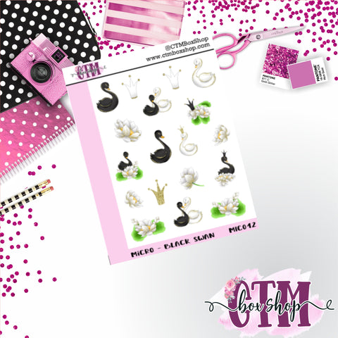Black Swan Micro Sticker Sheet