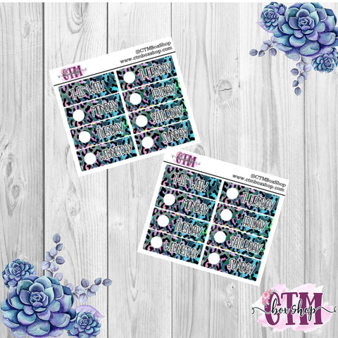 Blue/Teal/Plum Date Covers   Date Cover Stickers   Planner Stickers   Weeks Stickers   Date Stickers