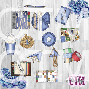 Blue House Die Cuts