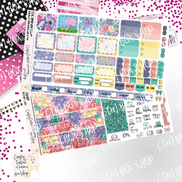 Spring Dragon Deluxe Hobonichi Weeks Sticker Kit   Weekly Sticker Kit   Hobonichi Weeks   Planner Stickers   Mini Stickers   Functional Sticker