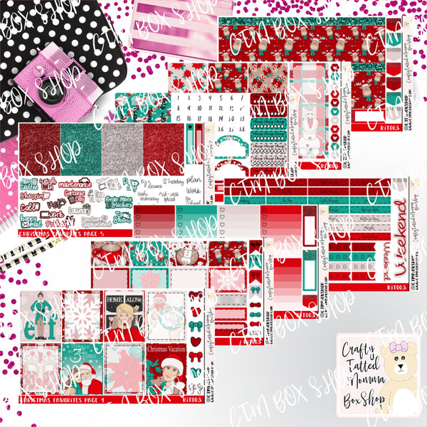 Christmas Favorites A La Carte or Deluxe Weekly Sticker Kit   Planner Sticker Kit   Weekly Sticker Kit   EC Stickers   Planner Stickers