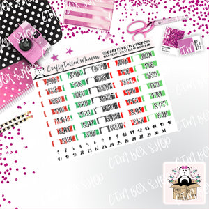 Hobonichi Date Covers Stickers   Mini stickers   Planner Stickers   Hobonichi  Techno Weeks   Stickers  Date Covers  Days of the Week
