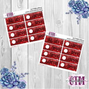 Christmas Red Date Covers   Date Cover Stickers   Planner Stickers   Weeks Stickers   Date Stickers