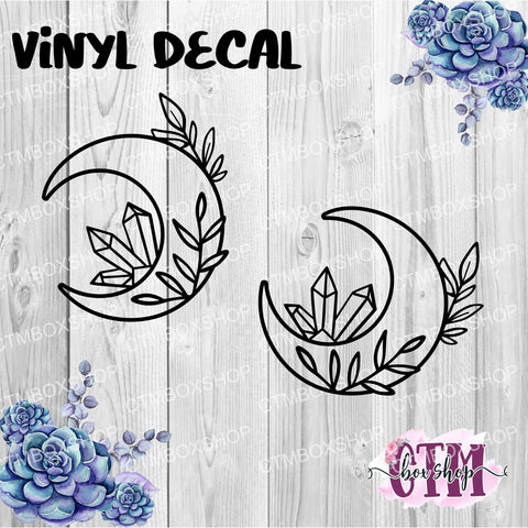 Crystal Moon Vinyl Decal