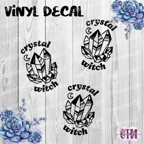 Crystal Witch Vinyl Decal