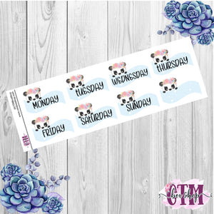 Blue Panda Date Covers   Date Cover Stickers   Planner Stickers   Weeks Stickers   Date Stickers