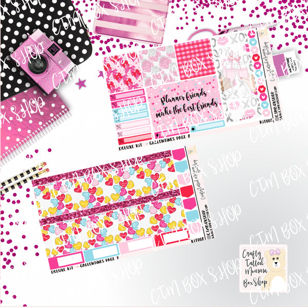 Galentines A La Carte or Deluxe Weekly Sticker Kit, Planner Sticker Kit, Weekly Sticker Kit, Valentine's Sticker kit,  EC Stickers, Planner Stickers