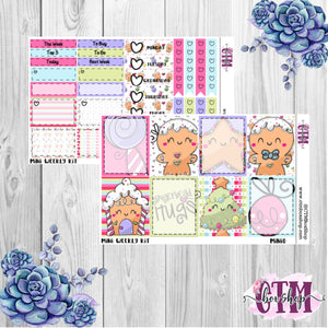 Gingerbread Holiday Mini Weekly Planner Sticker Kit