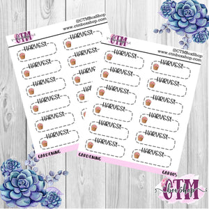 Gardening Harvest Stickers   Planner Stickers   Functional Stickers Deco Stickers