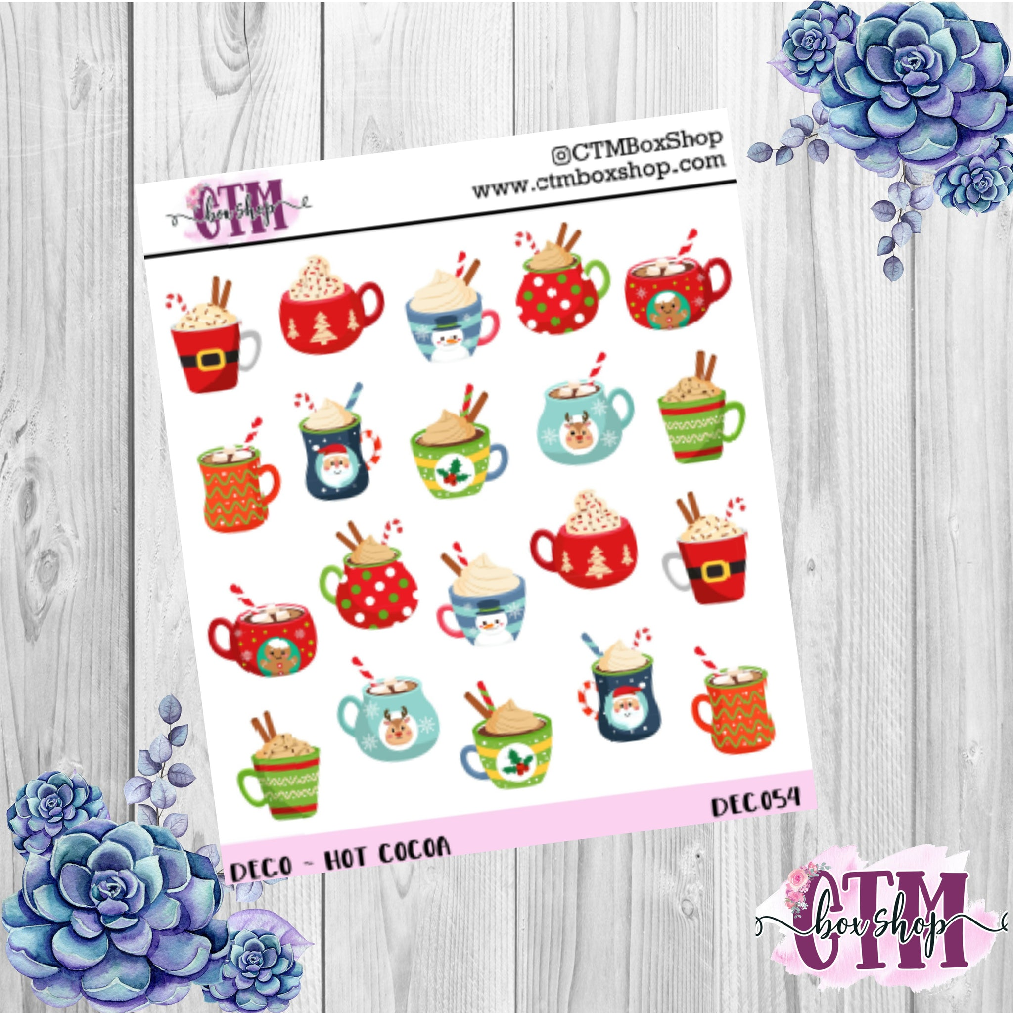 Holiday Coco deco stickers, deco stickers, Christmas stickers, planner stickers
