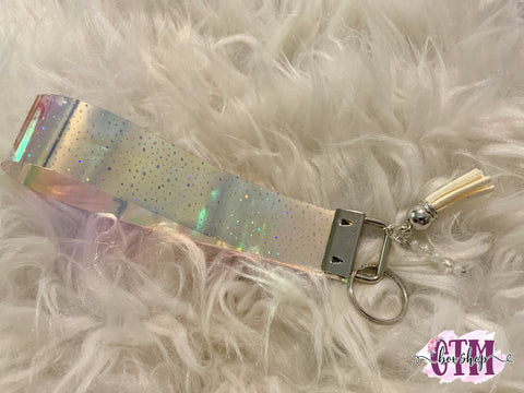 Holo Star key fob, ribbon key fob, key fob, tassel key fob, accessories